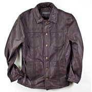 Leather Guayabera Jacket