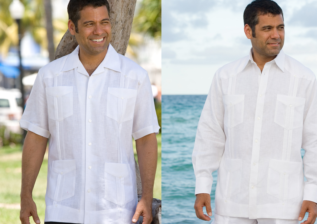 Looking for a Pure White guayabera shirt or white guayaberas.