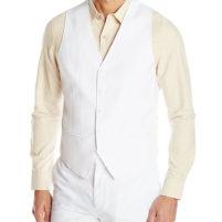 Men's Linen Blend Suit Vest