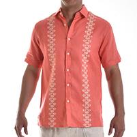 Havana Themed Party: Pattern detail linen shirt