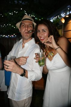 Cigars and Guayaberas are the fundamental elements of a Havana Night Party